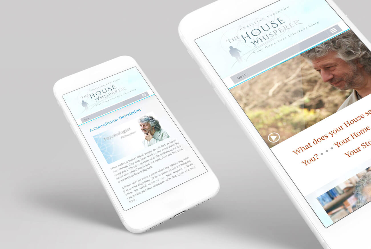 Mobile Web Views - Site for Architect Christian Kyriacou