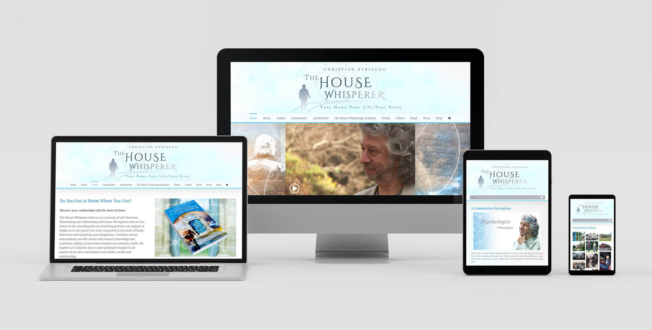Responsive Web Design on Various Devices - Site for Architect Christian Kyriacou