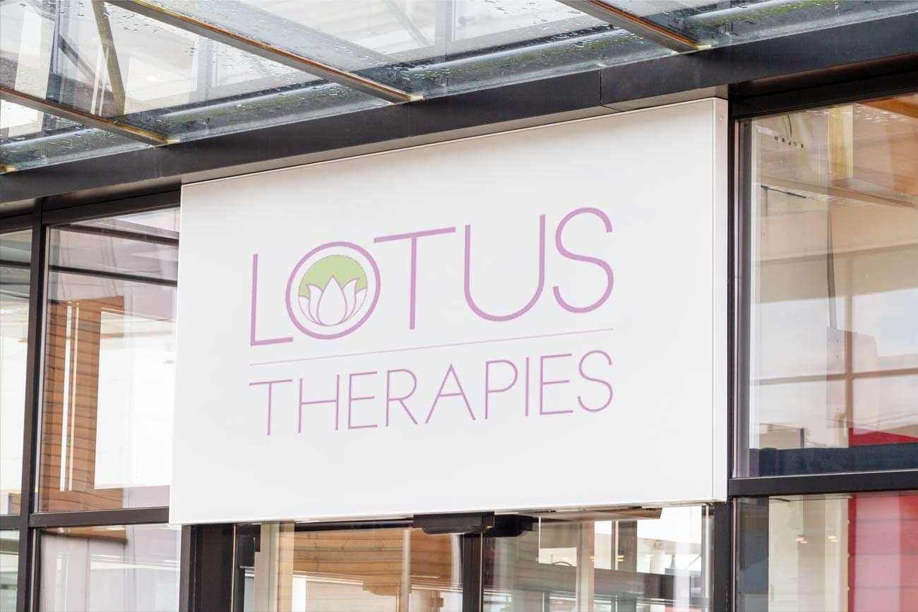 Lotus Therapies Signage Mockup