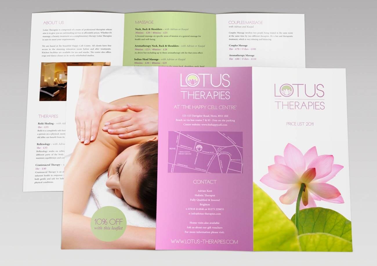 Lotus Therapies - Tri-fold leaflet design