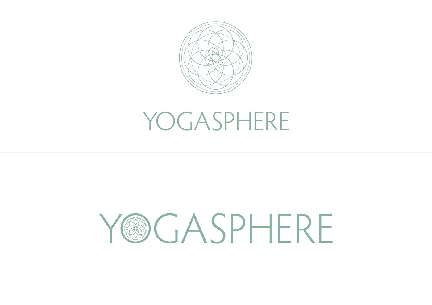 Yogasphere - Teal logo on white background