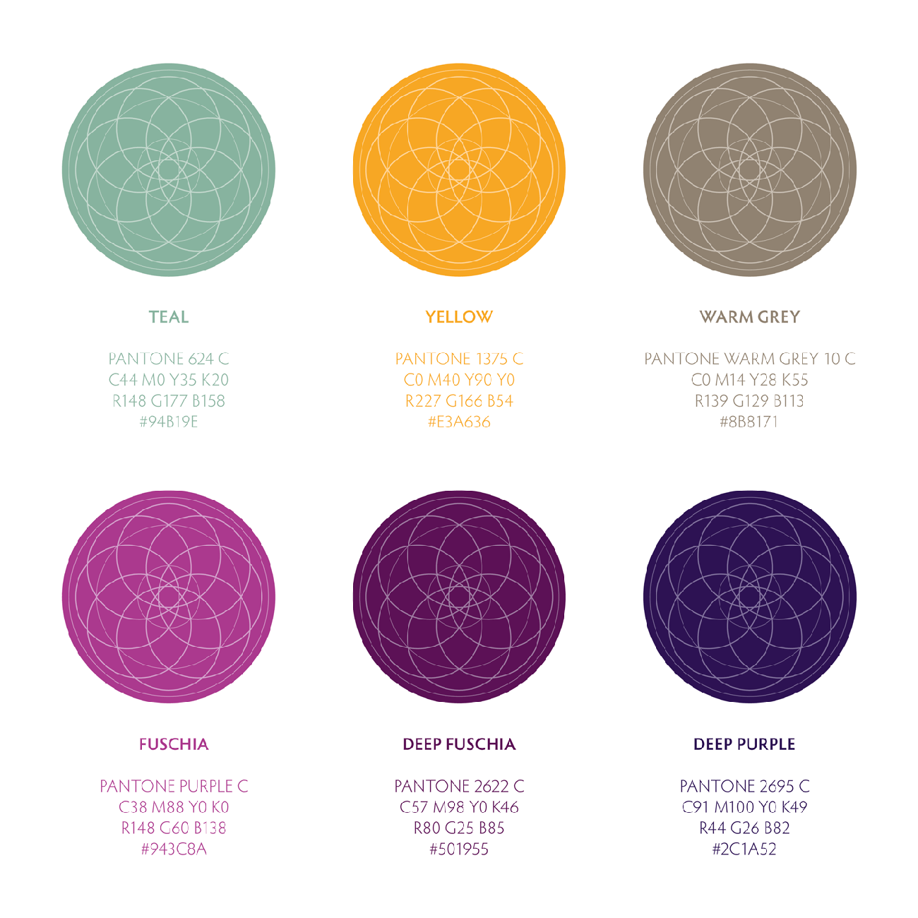 Yogasphere - Brand Colours