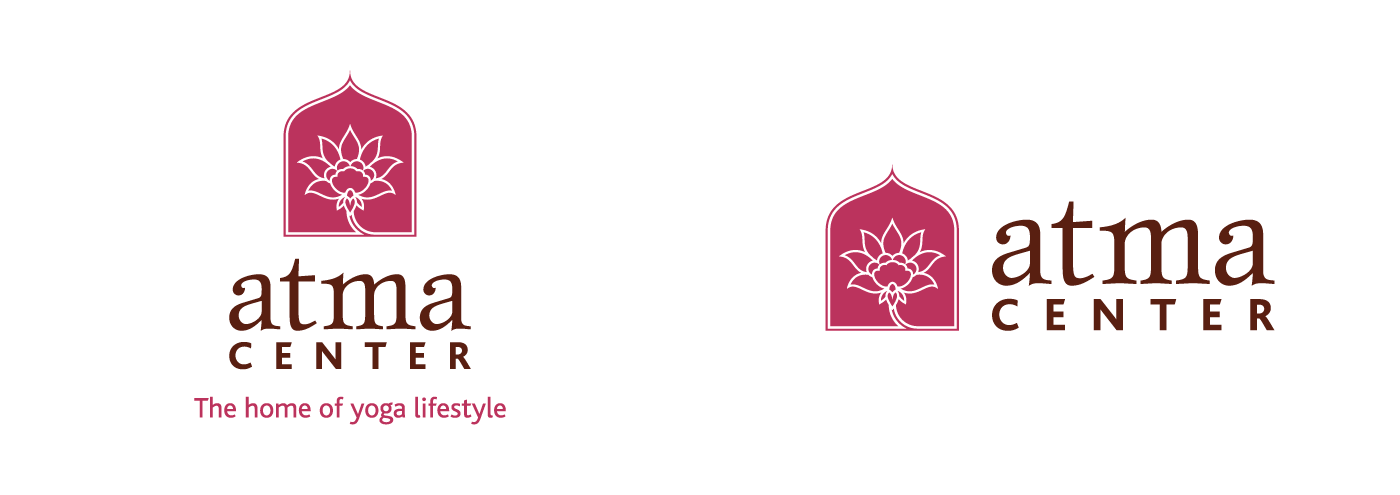 Atma Center Logo - Stacked and Landscape Versions