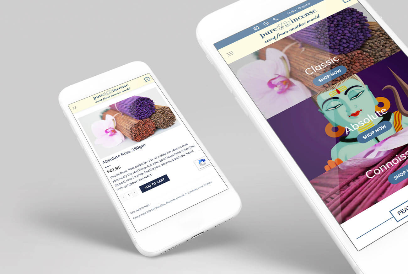 Mobile Web Views for an Incense Company