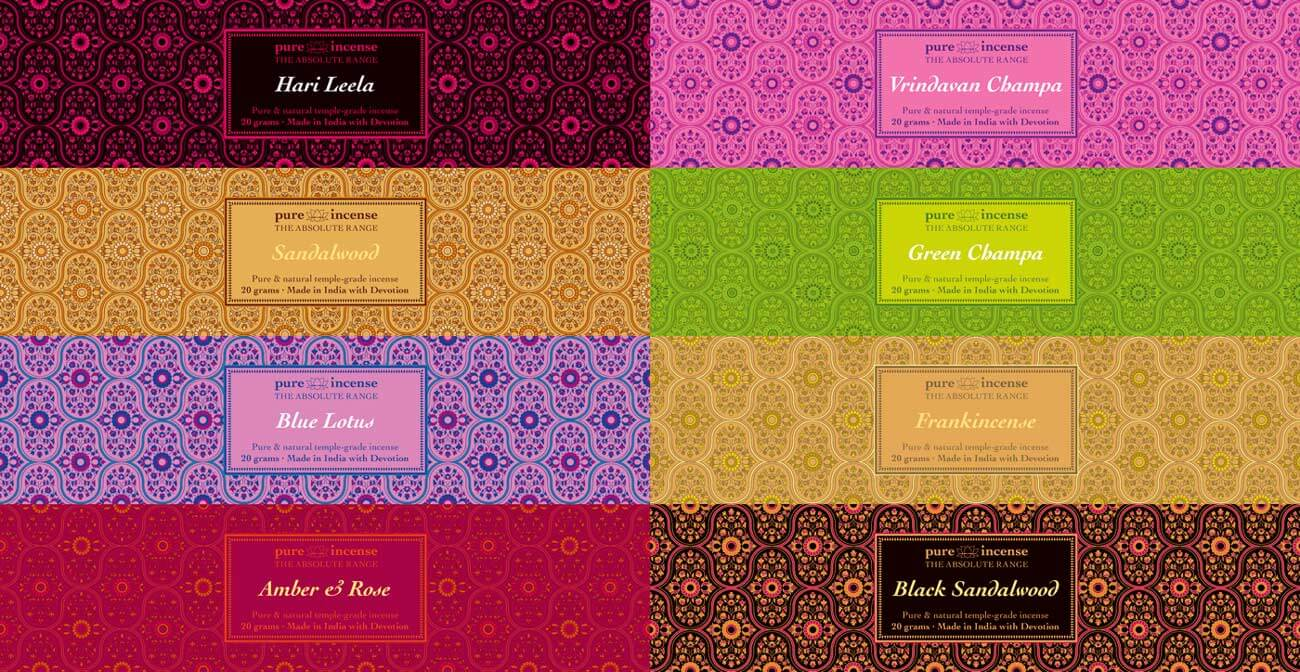 Pure Incense Absolute Collection - Design for Printed Cartons