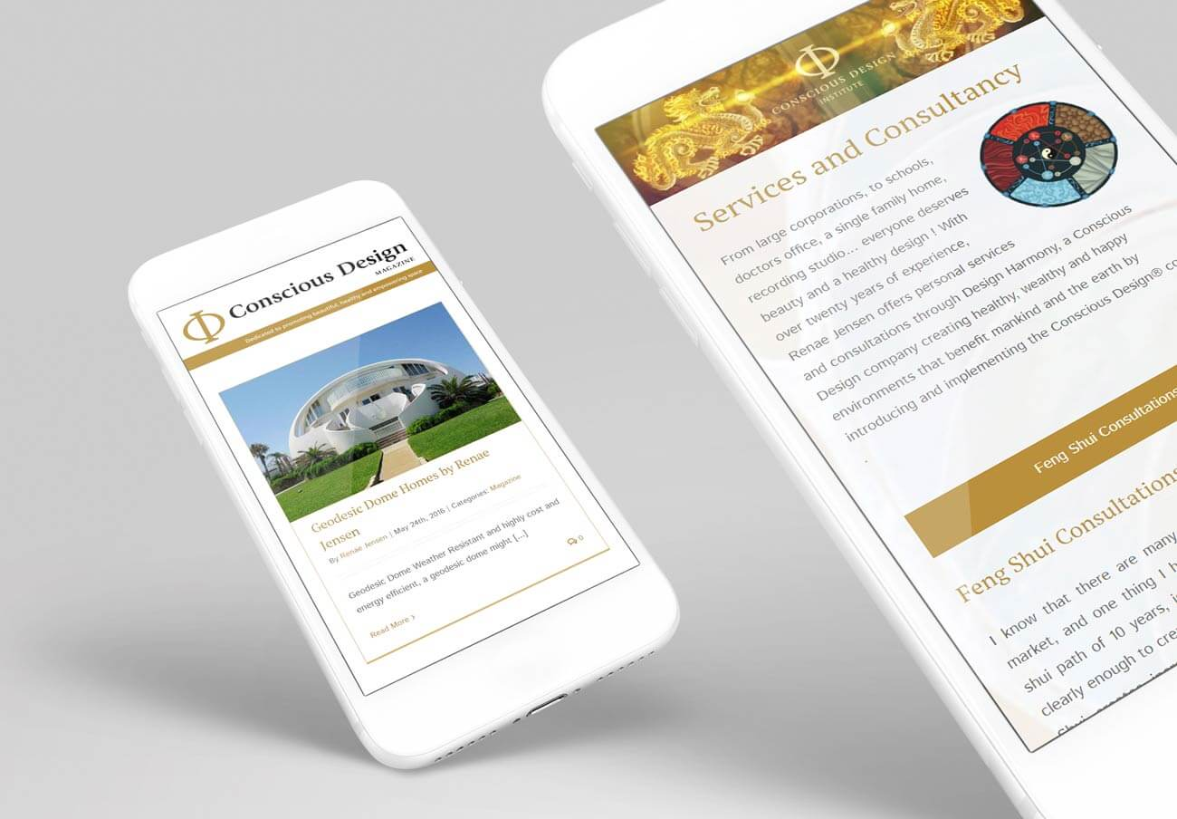 Mobile Web Design for a Feng Shui Site