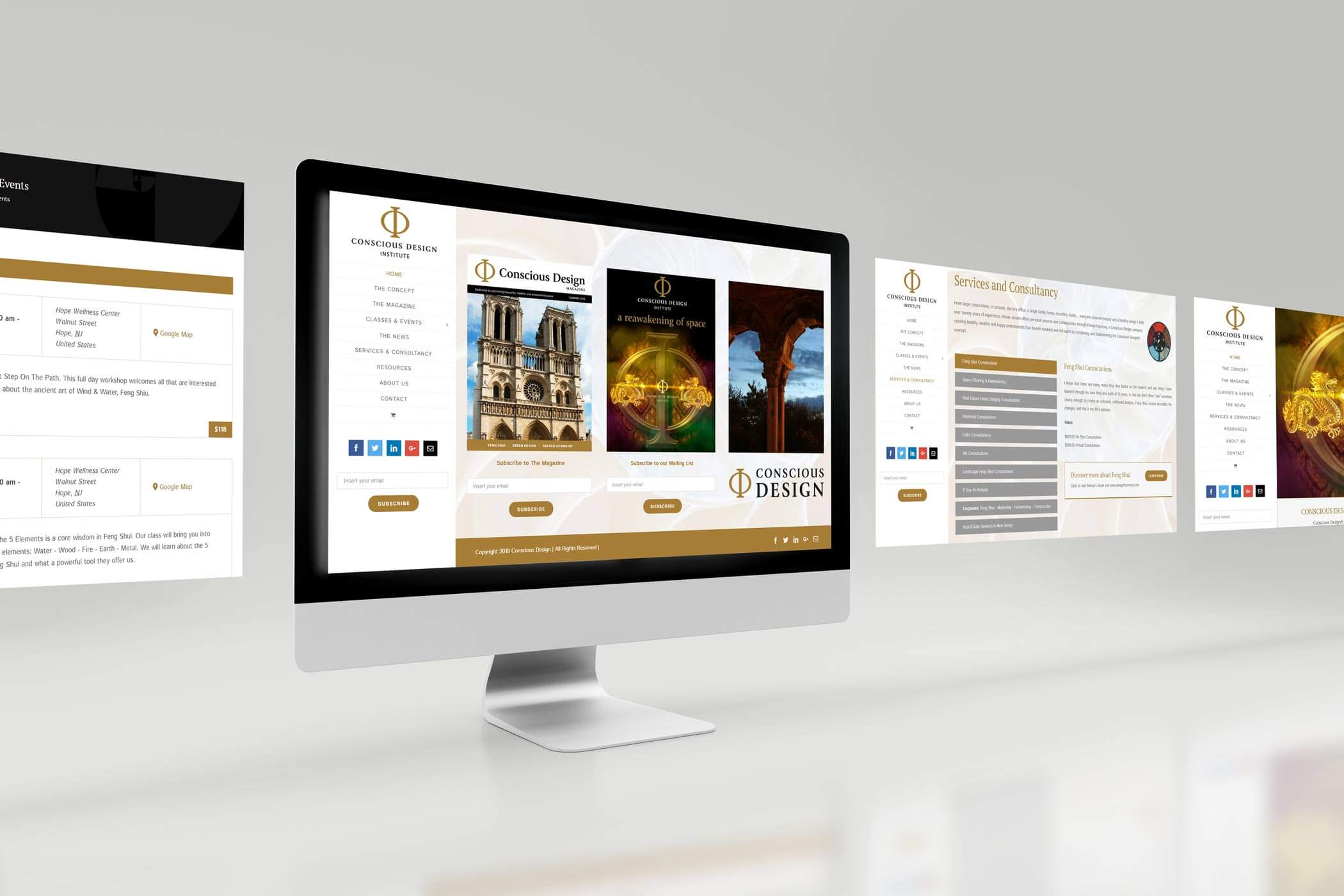 Web Design for a Feng Shui Site - Desktop Views