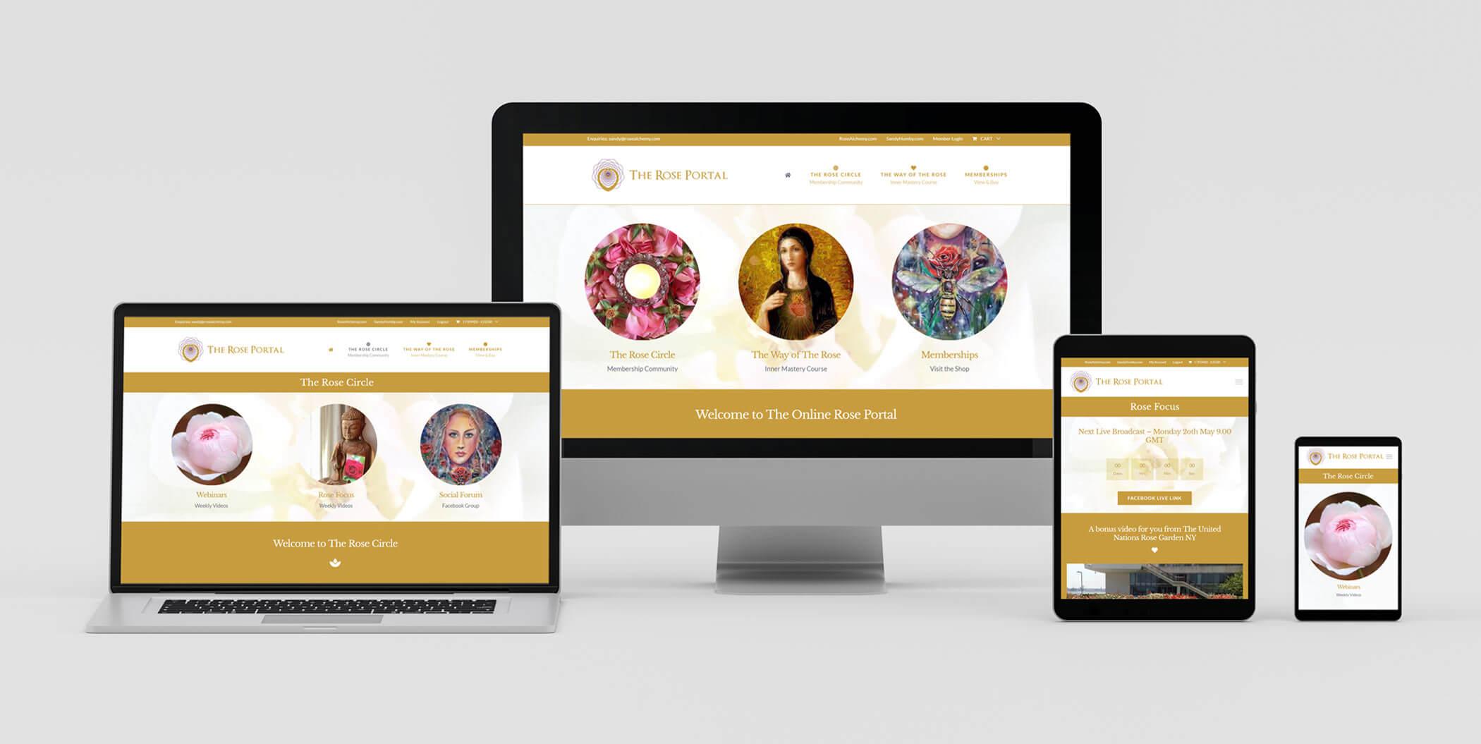 Responsive Web Design Layouts on Various Devices - Membership / Subscription Wordpress Design