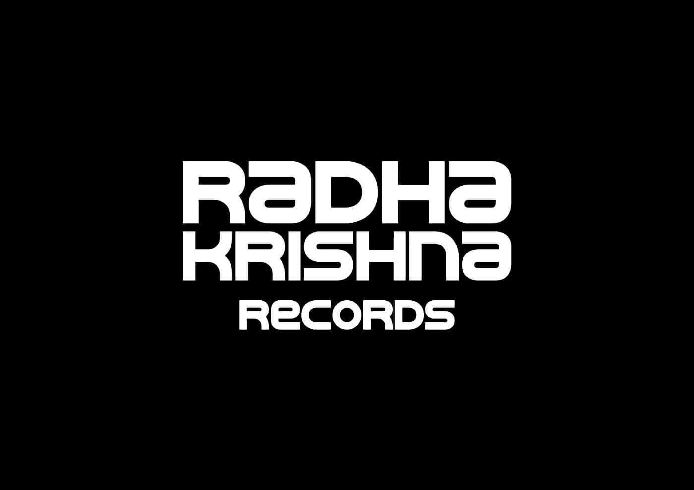Radha Krishna Records - Logotype white on black