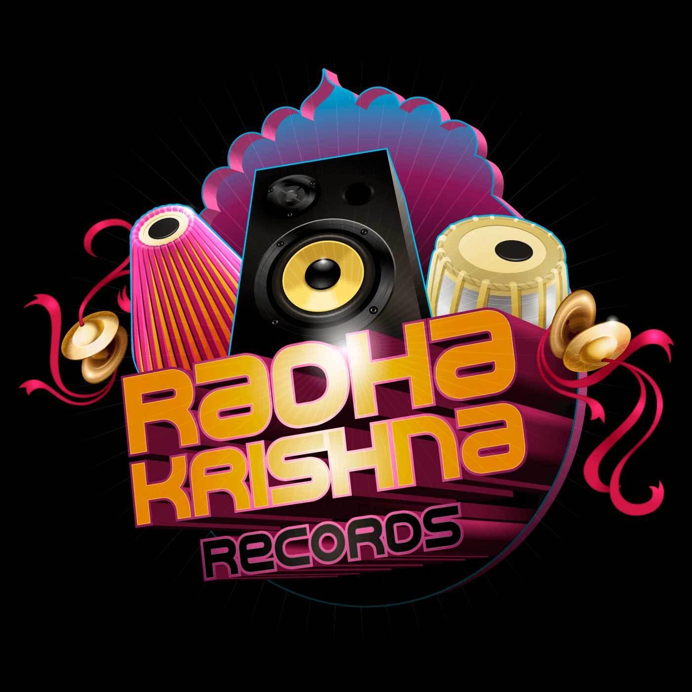 Radha Krishna Records - Final illustrated logo - Created in Adobe Illustrator