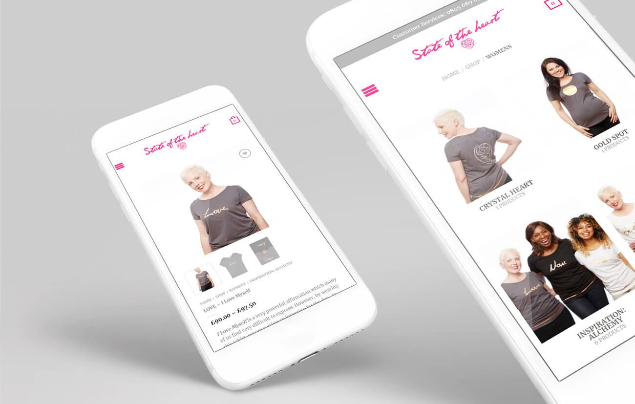 Mobile Web Views for a T Shirt Website