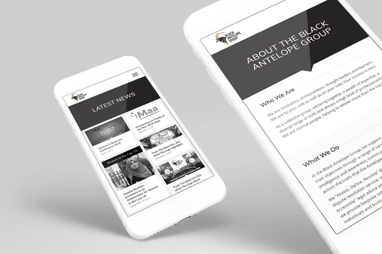 Mobile Web Views for a Management Company