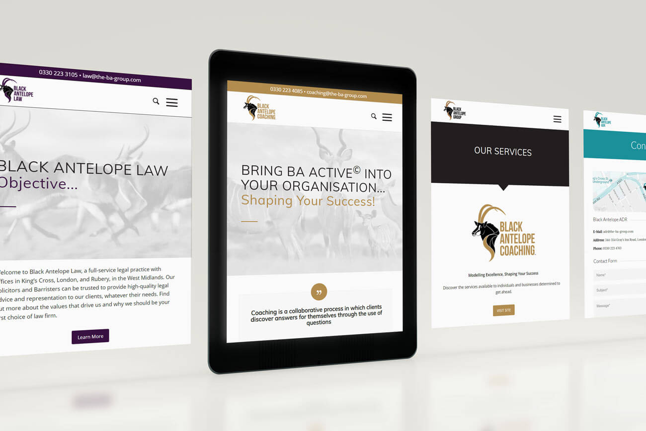 Web Design - Tablet Views for a Law Company