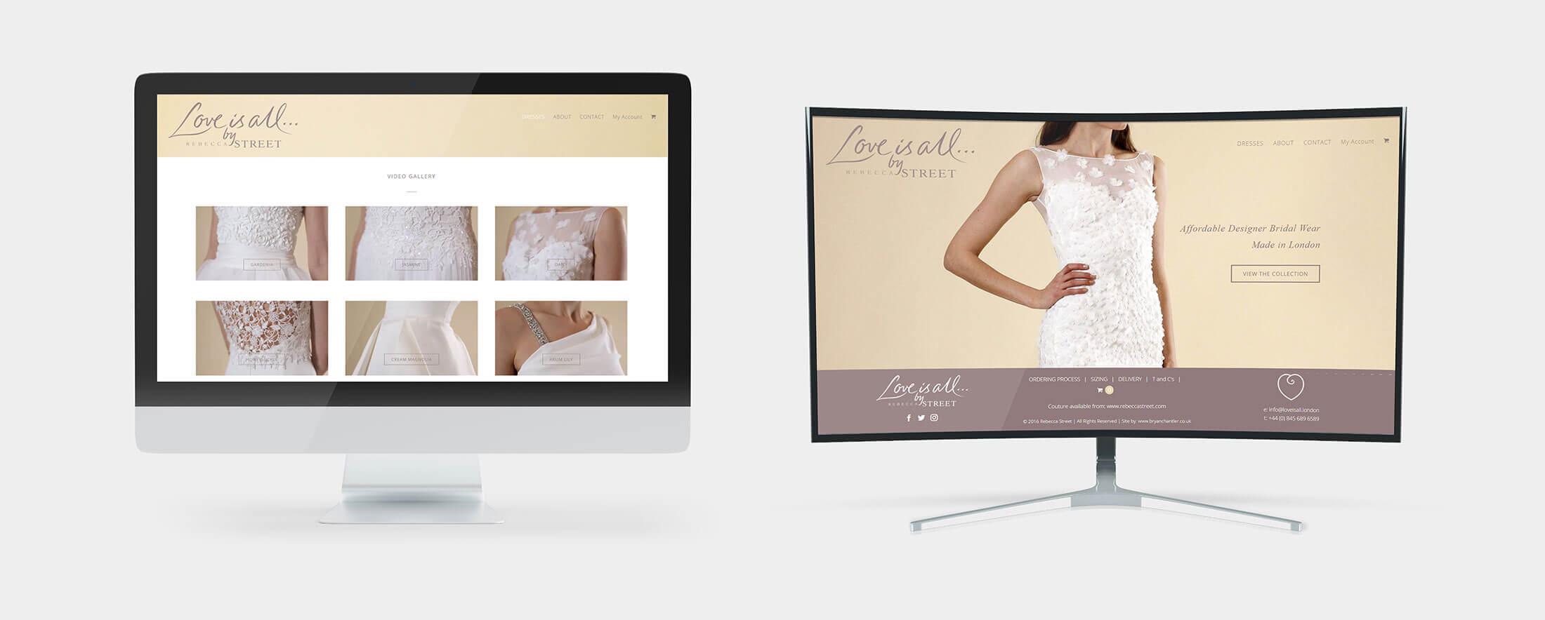 Web Design Views on Desktop - For a Wedding Business