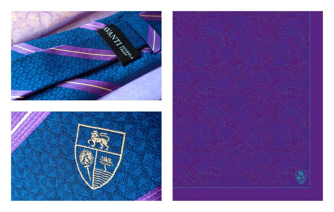 Silk Tie and Scarf for Staff