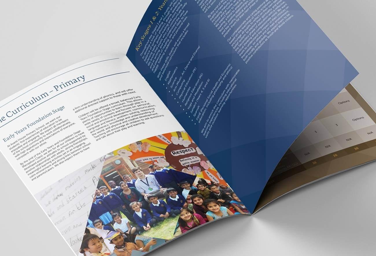 School Prospectus Design - Inside