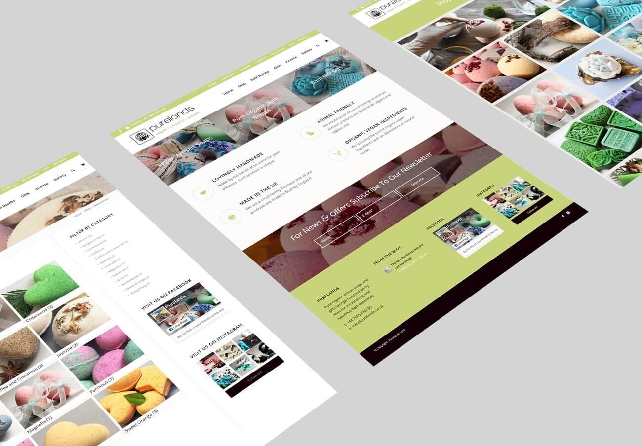 Purelands Web Design Layouts