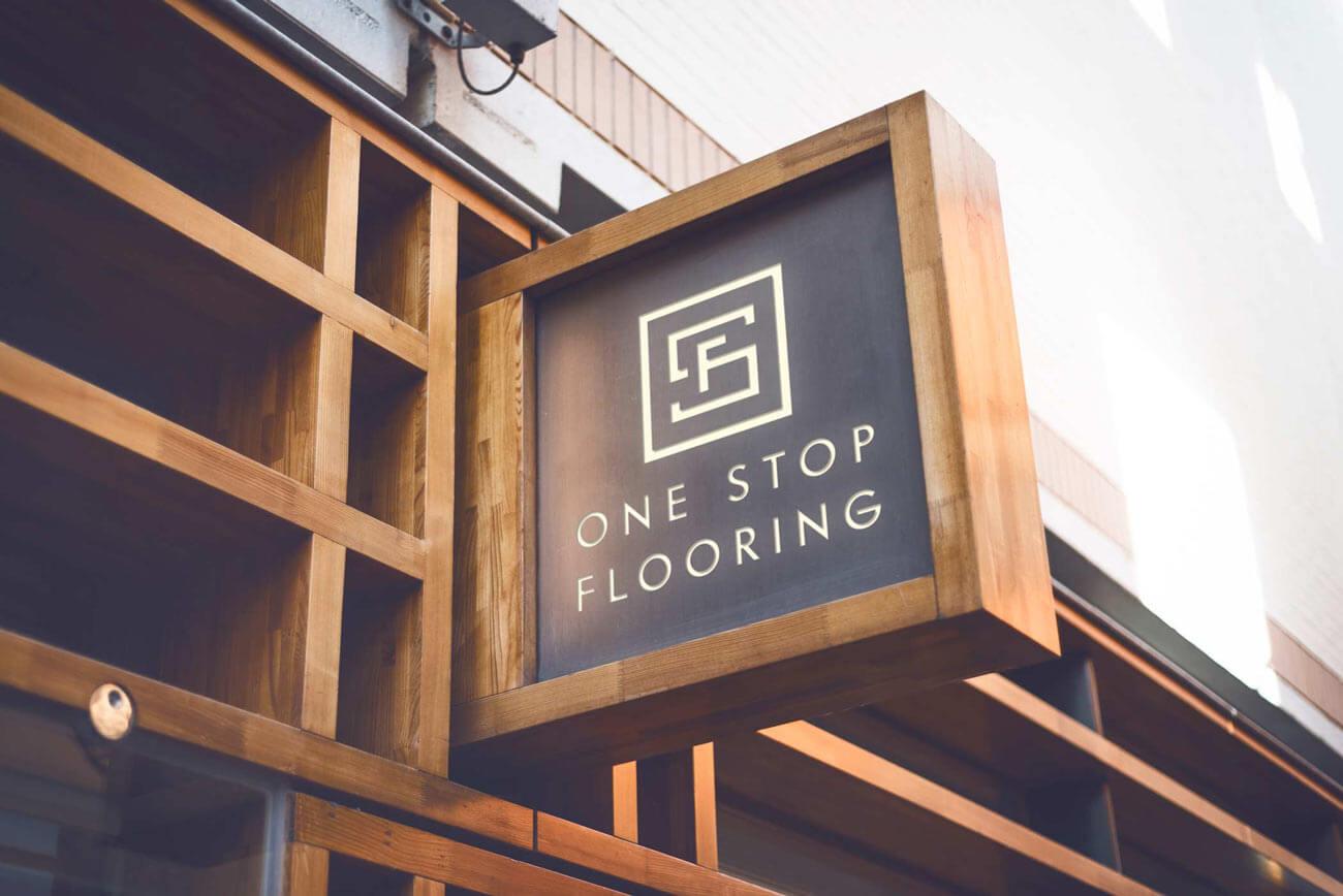 Wood Flooring Signage - Digital Mockup