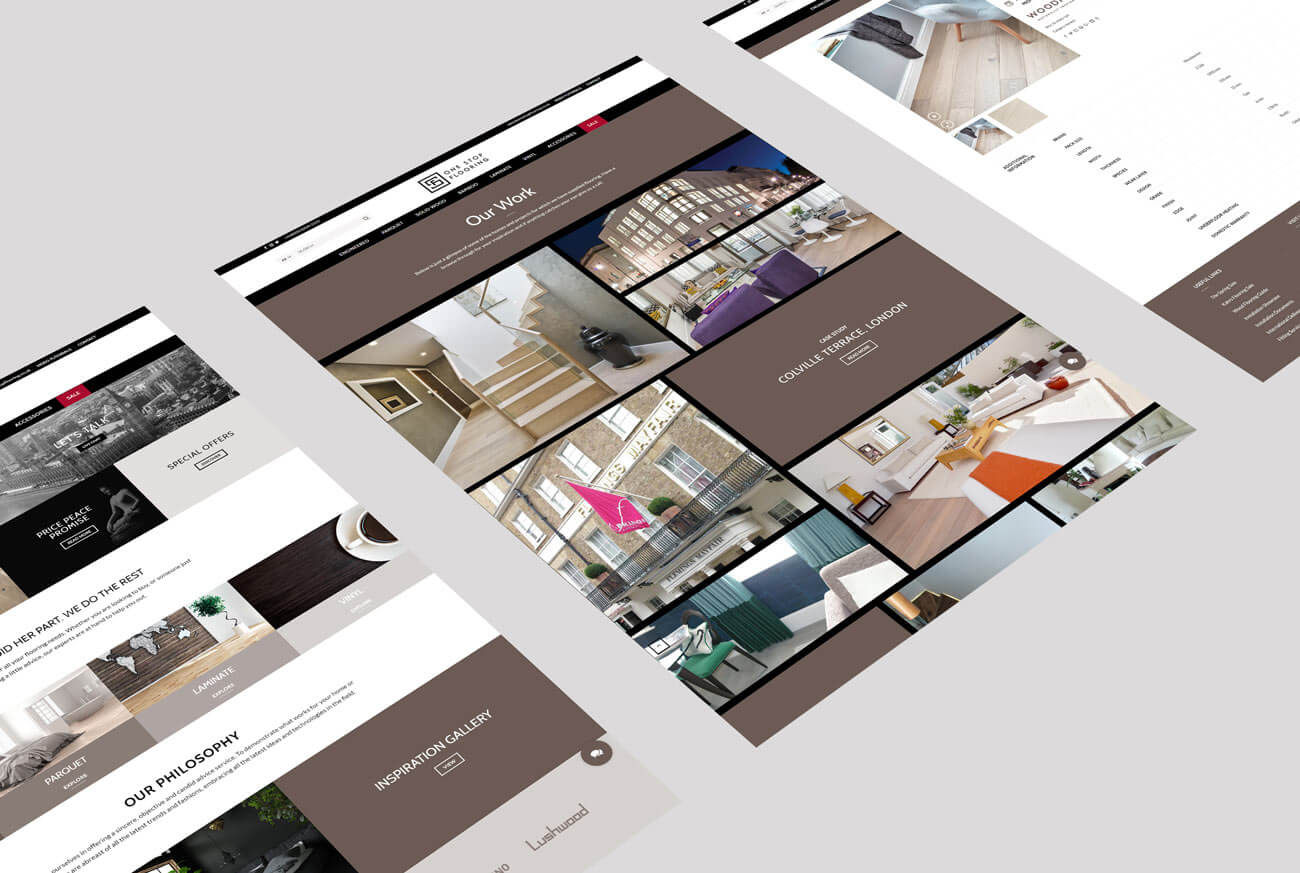 Web Design Layouts - For a Wood Flooring Company